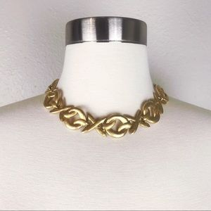 Vintage Edwin Pearl Gold Chocker Necklace